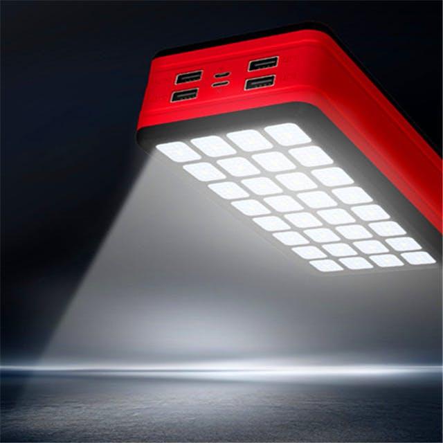 バッテリーだけでなくライトとして使用できる