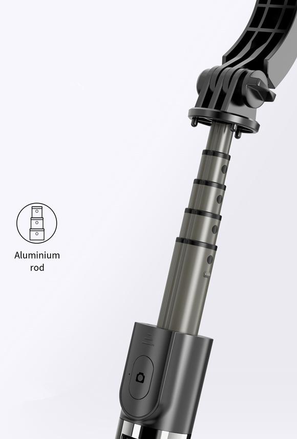 伸縮可能で自撮り棒としても利用可能