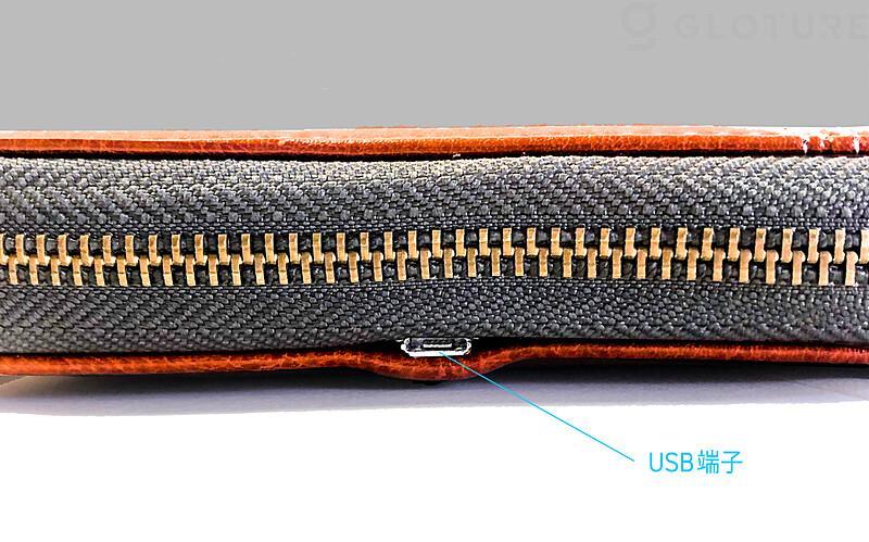 本体の充電ポートもすっきりとしたデザイン