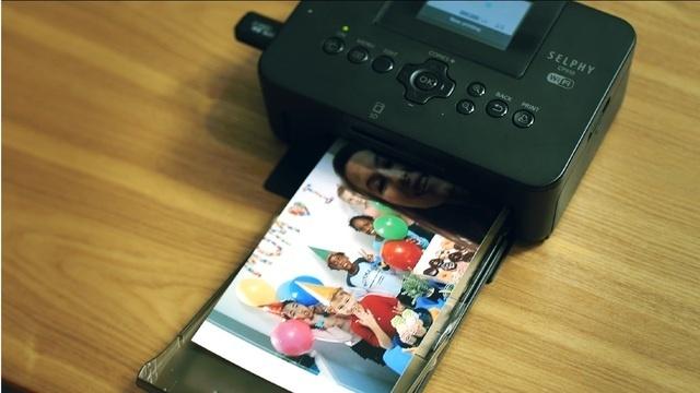 他のカメラで撮った写真もプリントアウトできる