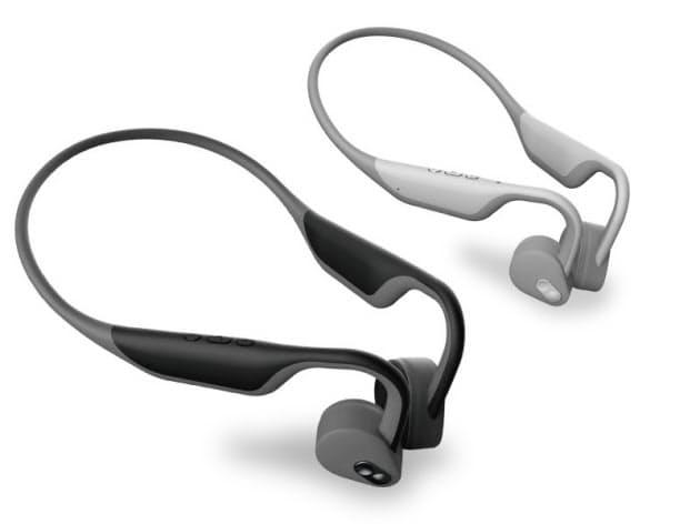 耳を塞がない、骨伝導式ヘッドフォン