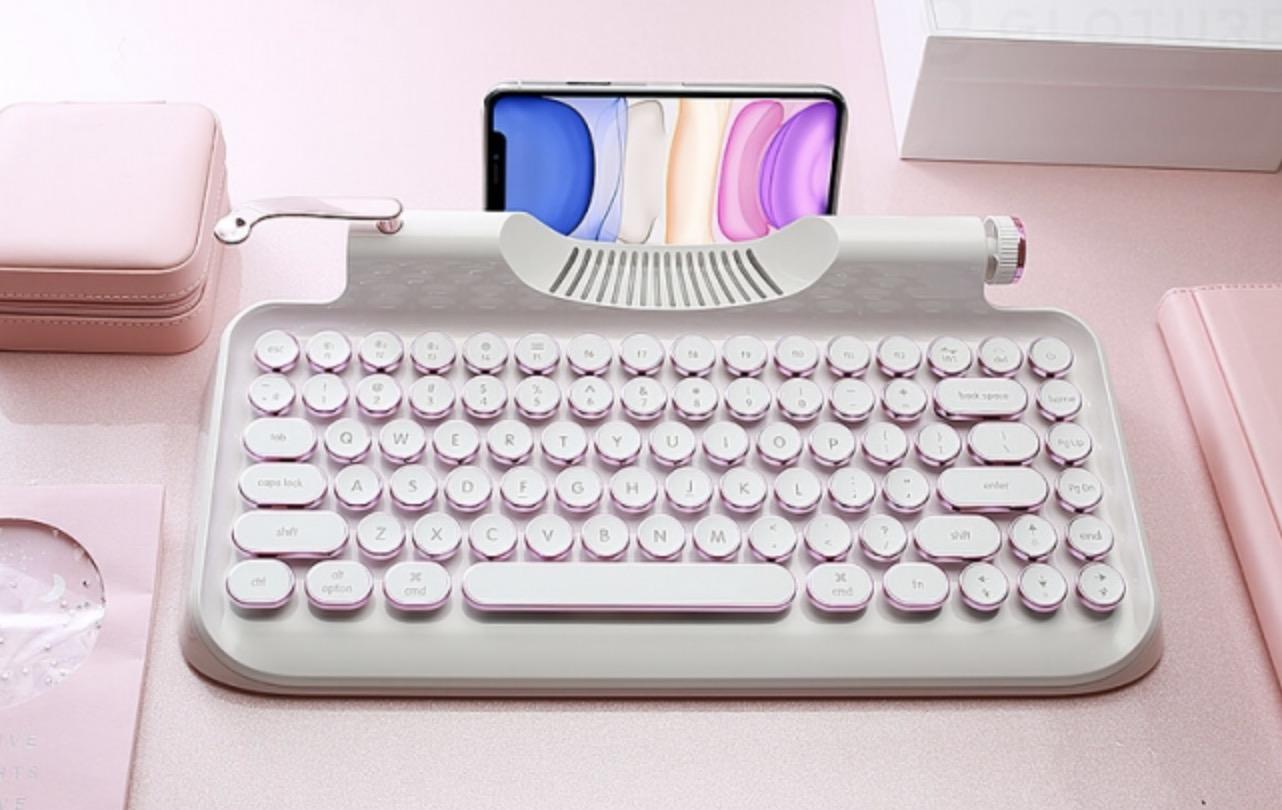 【新色発売】レトロかわいいタイプライター風メカニカルキーボード