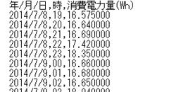 CSVファイルでのデータ出力が可能