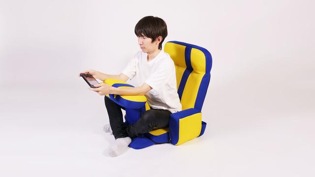 【座り方1】肘を置きながら