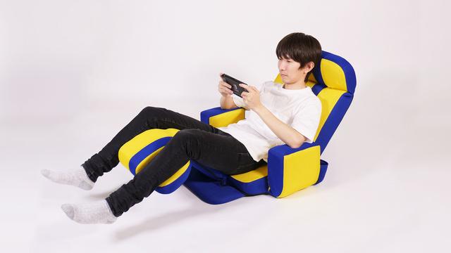 【座り方3】足を上げてリラックス