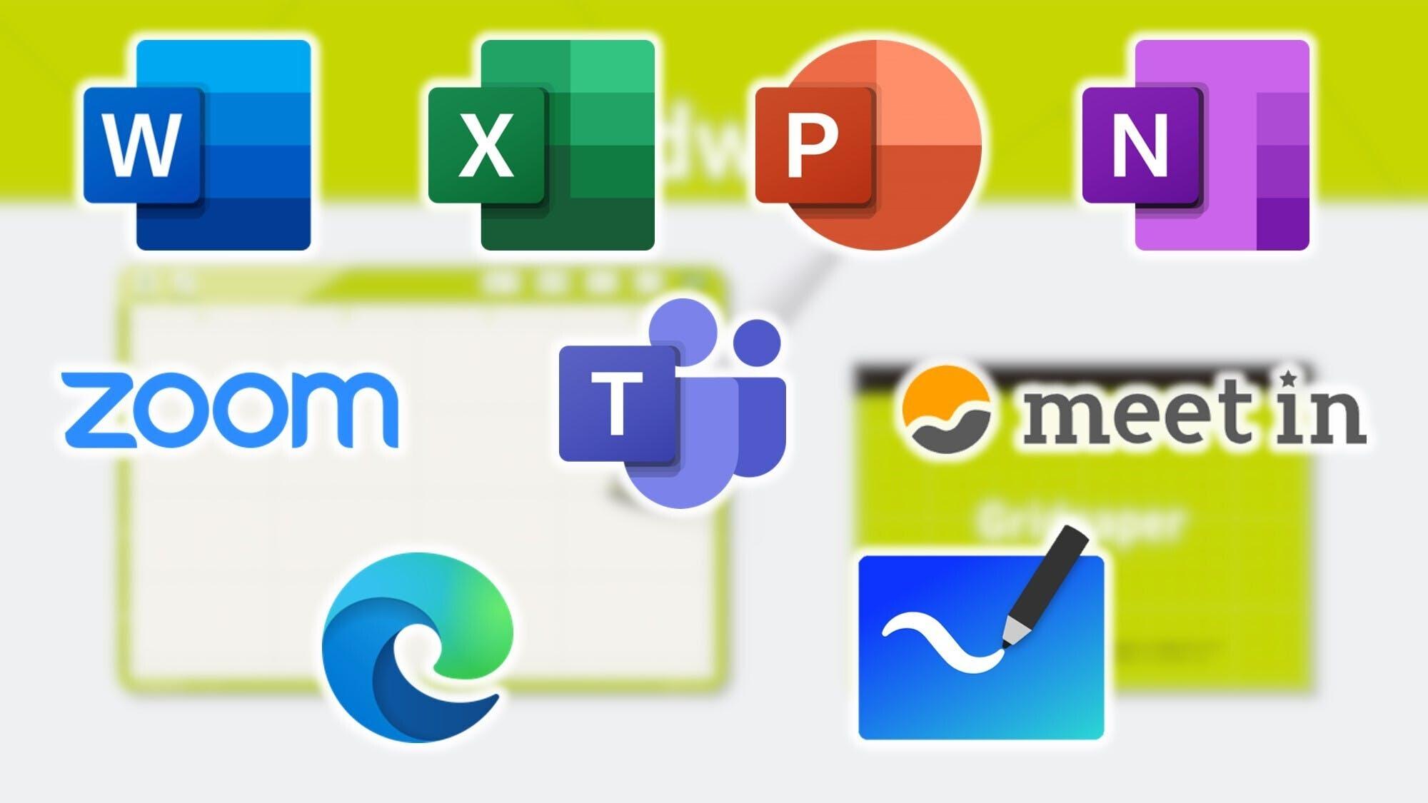 主要アプリの多くに対応