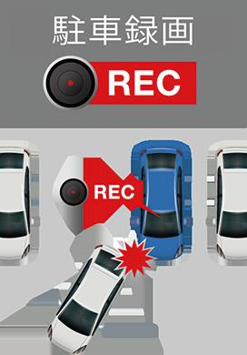 駐車録画機能も