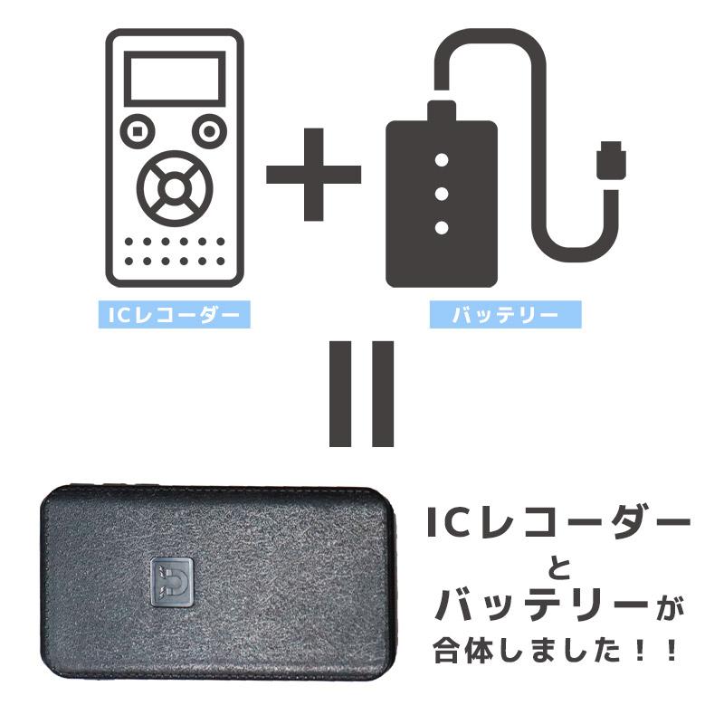 ICレコーダーとモバイルバッテリーが合体