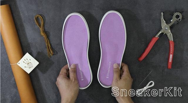 靴づくりのための準備を一つに