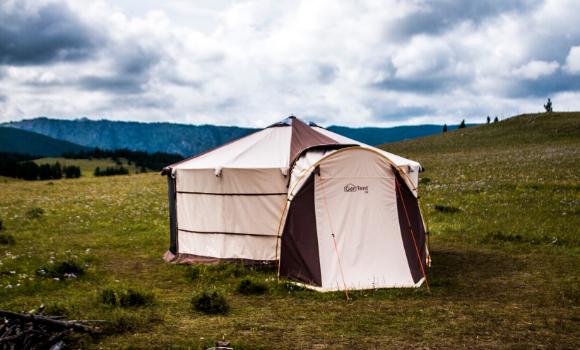 もうテントの中が狭いとは感じない