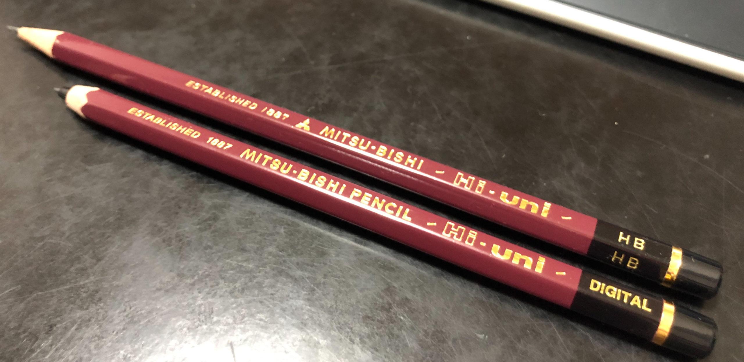 これはもう、鉛筆です。