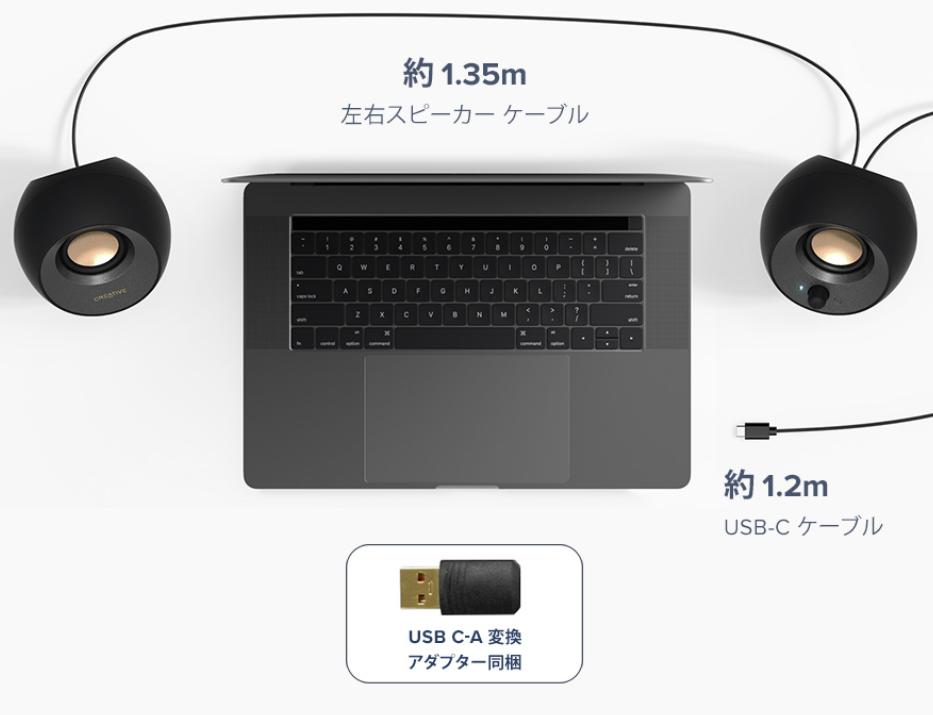 USBケーブル接続で性能が格段にアップ