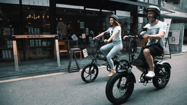 電動バイクで運転が楽々