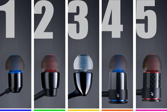 選べるイヤホン5モデル