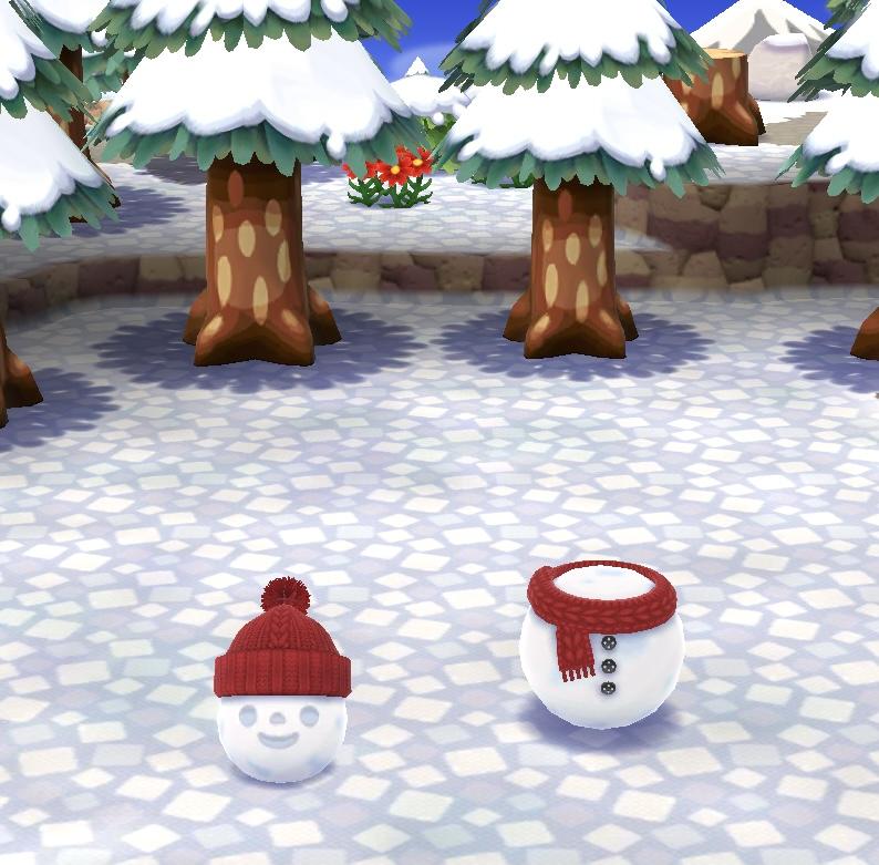 今月のハニワあつめでは「雪だるま」が作れる!